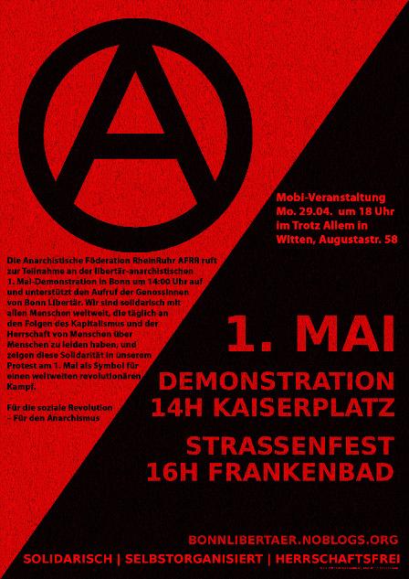 [Plakat: 1. Mai 2013 in Bonn]