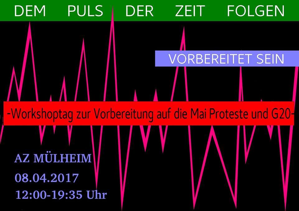 Workshoptag zur Vorbereitung auf die Mai-Proteste und G20